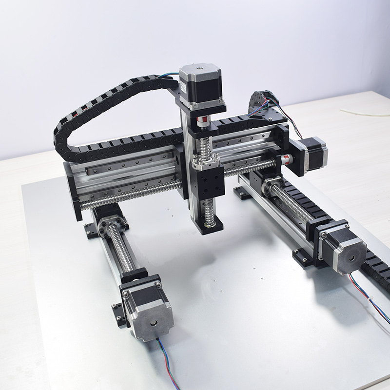XYZ Automatic Gantry Robot CNC Linear Module Guide Ball Screw Rail Slide  Motion Actuator Workbench Robotic Arm Z Axis 100 mm