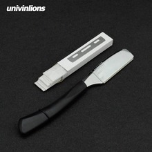 6univinlions silver gold razor shaving barber tools hair blades knife beard face underarm body anti slip