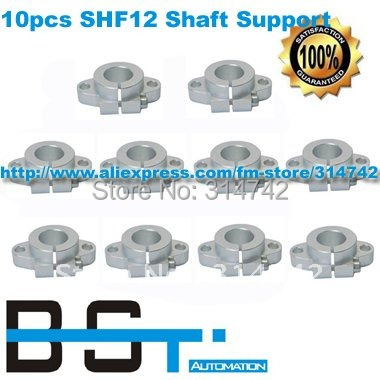 Free Shipping for 10pcs SHF12 Linear Rail Shaft Support / Linear Rod shaft Support XYZ Table CNC
