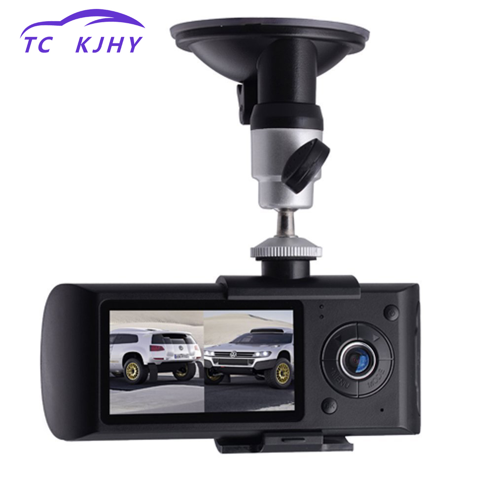 купить 2018 Auto Dash Cam Car DVR Dual Lens 2.7 Inch GPS Camera 140 Degree Video Recorder Car DVR with GPS G-Sensor Cam Corder Dissplay