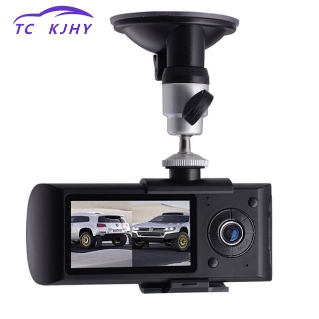 2018 Auto Dash Cam Car DVR Dual Lens 2.7 Inch GPS Camera 140 Degree Video Recorder Car DVR with GPS G-Sensor Cam Corder Dissplay