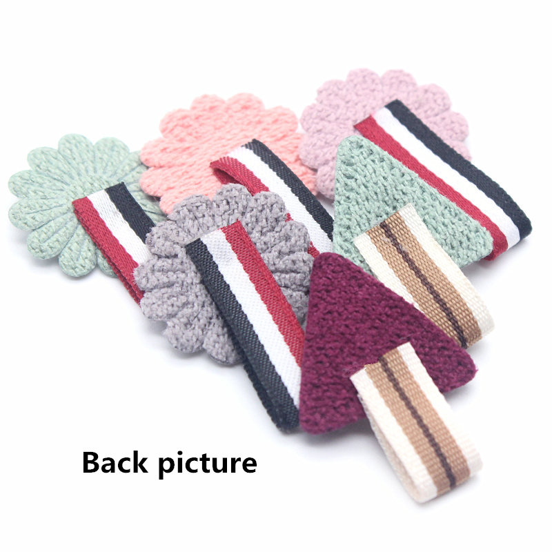 10pcs lot Mini Cotton Knitting Sun flower for Home Hat Clothing Decoration Scrapbooking DIY Crafts Handmade Accessories in DIY Craft Supplies from Home Garden