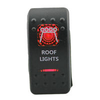 Factory Outlets 12V 20A Bar Carling Bar Rocker Switch Red LED Roof Light Lamp Car Boat