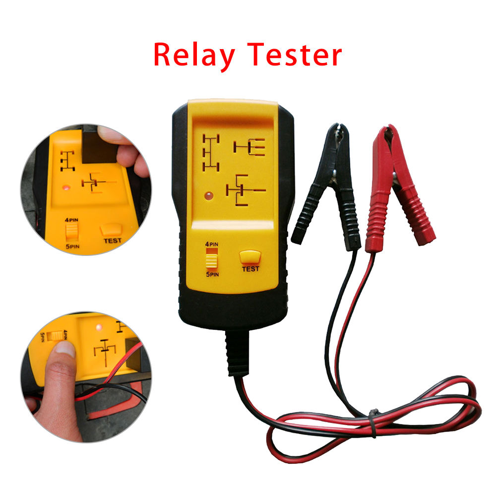 Electronic Automotive Relay Tester Car Battery Checker Quick Test Diagnostic Too
