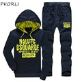 Men Sportwear Hoodie And Sweatshirts Autumn Winter Jogger Suits Fitness Brand Mens Tracksuit Set Pullover Hoodies Sweat Suit