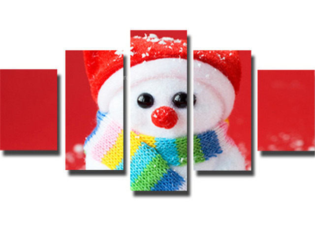 Купить 5 шт рождественская птица холст картина настенная живопись домашний картинки цена