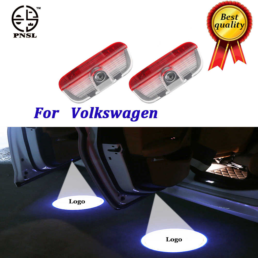 PNSL for Volkswagen welcome Car Door light puddle CIRCLE Shadow LED Courtesy  Lights  Back light Car Styling Welcome lamp