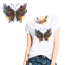 Butterfly Shaped Heat Transfer Patch DIY T-Shirt Backpack Jacket Ironing Heat Transfer Sticker Washable a heat exchanger by using mfrd transfer heat