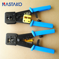 NASTAKO Tools RJ11 EZ RJ45 Pliers Crimper Crimping Cable Stripper Pressing Line Clamp Pliers Tongs For