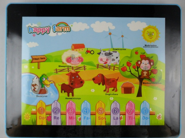 Ship out in 3 days! New arrival Russian for for ipad table computer learning machine toy,Free shipping