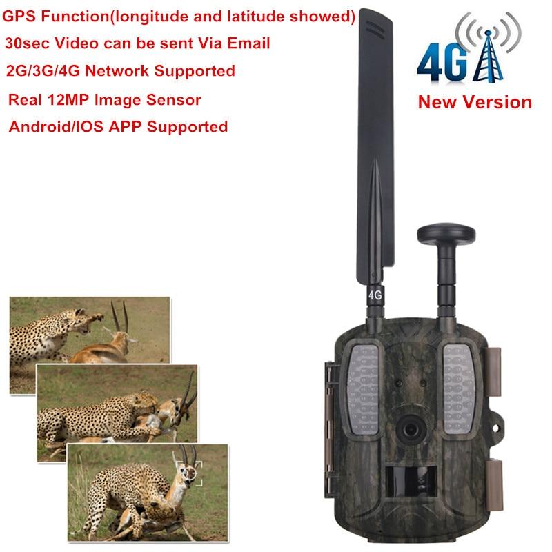 4g fotos de cámara de caza con GPS 940NM cámara de visión nocturna - Caza