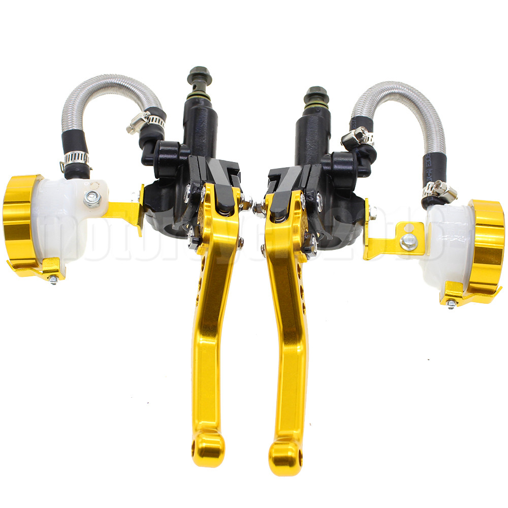 7/8 22MM Universal Motorcycle Hydraulic Brake Clutch Levers Master Cylinder For Suzuki 200-500CC Moto Hydraulic Brake Lever цены онлайн