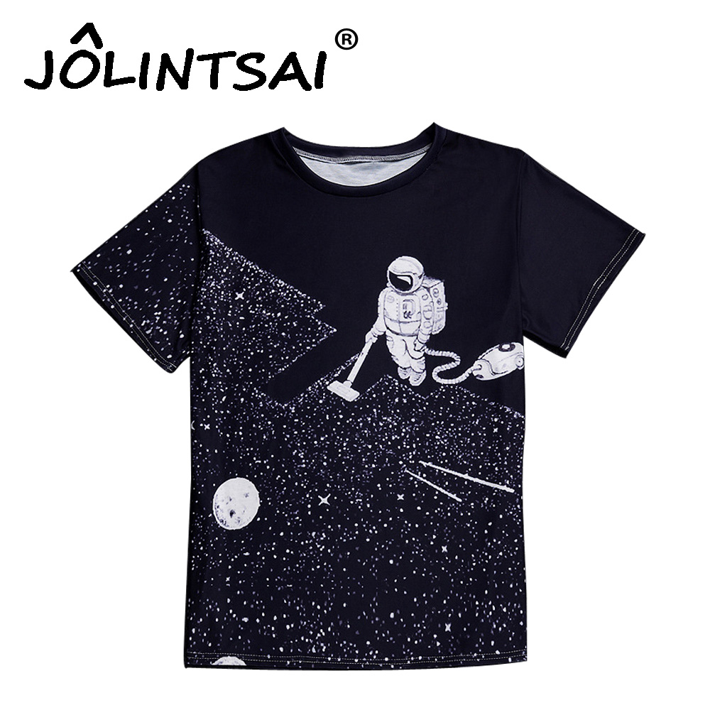 New astronaut 3d printed t shirts men creative man 39 s short for Printed t shirts mens fashion