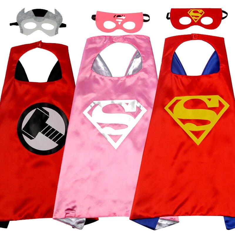 Cosplay Halloween Children's Costumes Cosplay Cloak Mask Festival Performance Anime Children Superman / Spiderman / Batman