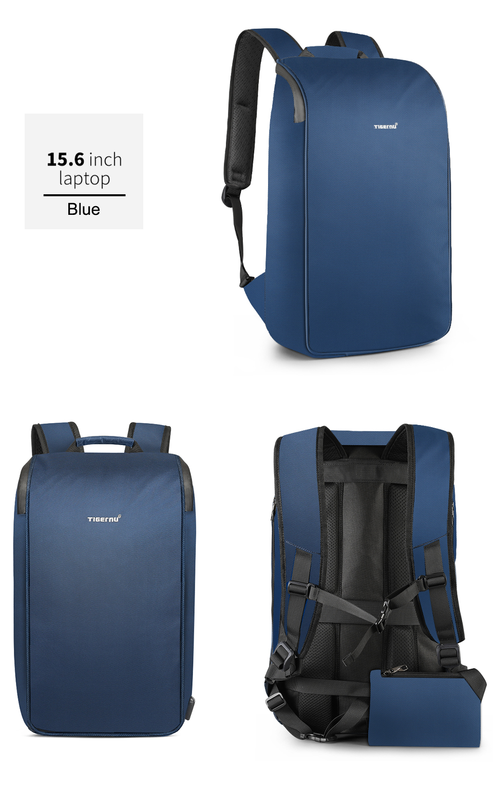 Male Travel Backpack fashion, unique design and trendy blue color