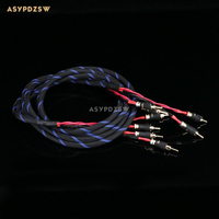 2M x 2 root 4N OFC Purple copper speaker wire Amplifier cable With banana plug