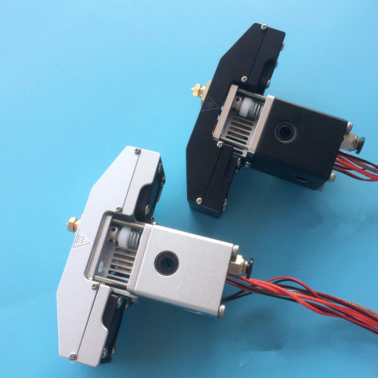 Funssor 1set*Ultimaker2+ 3D printer metal hotend kit print head extrusion assembly kit 1.75/3mm all metal chimera multi color extrusion hotend kit for delta kossel 3d printer 1 75 mm ntc 3950 thermistor heater cartridge