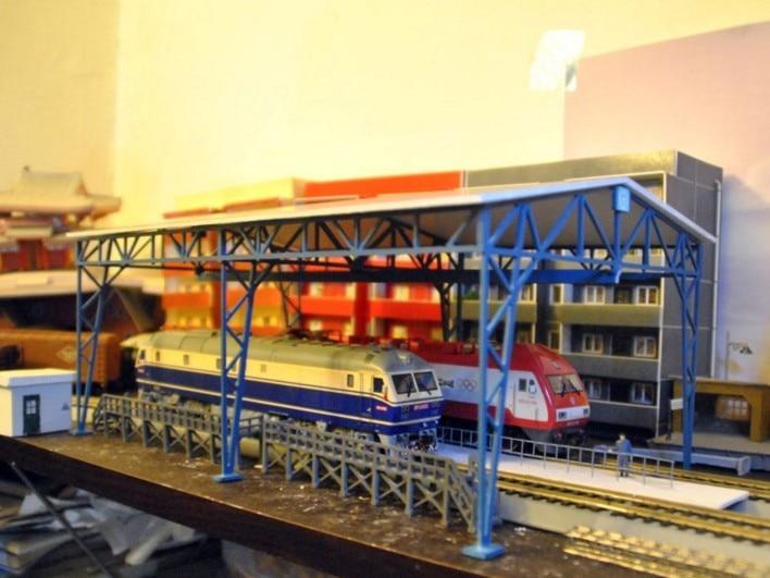 1 87 Model Train Ho Scale Frame Garage Diy Kit