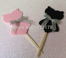 Sexy Corset Cupcake Toppers picks Sinh Nhật Cupcake Cake Topper, wedding bridal baby shower đảng cake cake topper(China)