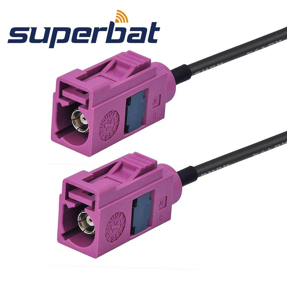 """Superbat Fakra Female Jack """"H"""" Прямой к Fakra Jack """"H"""" прямой кабель Пигтейл RG174 15 см радиочастотный коаксиальный кабель"""