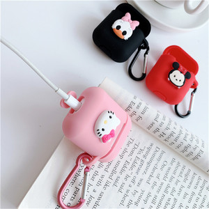 Image 5 - Cartoon animal Mickey Hello Kitty For apple airpods case Wireless Bluetooth Headset For airpods 1/2 Charging Silicone Soft Case