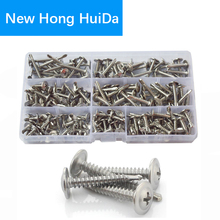 Wafer Head Self Drilling Pan Truss Head Washer Phillips Sheet Self-Tapping Metric Screw Stainless Steel Assortment Kit #8 #10