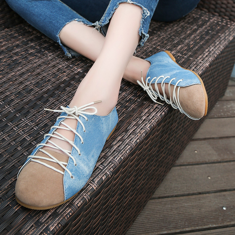 denim Casual shoes women Fashion Women Sneakers Shoes Female Summer Canvas ShoesLace Up Ladies Basket femme Stars tenis feminino