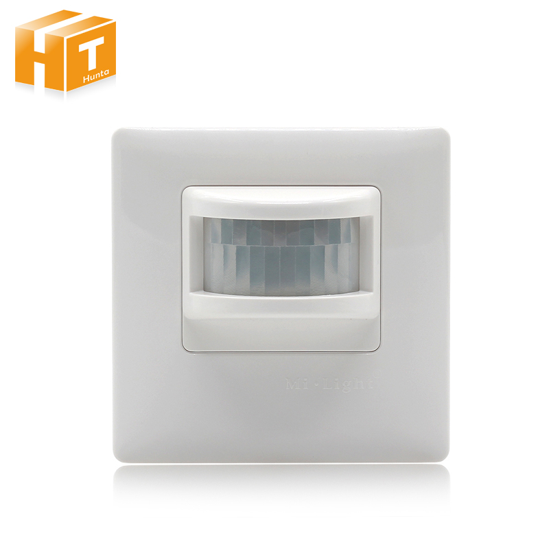 Mi Light PIR Sensor Infrared IR Switch AC180-240V Wall Type Human Body Induction Automatic Module Light Sensing Switch sxzm pir infrared motion sensor switch human body induction save energy motion automatic led module light sensing switch