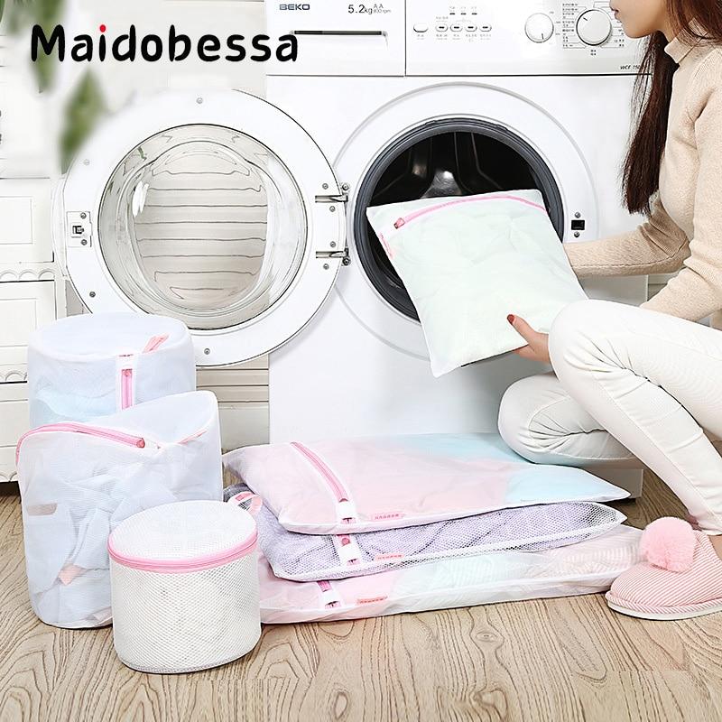 7pcs/set Clothes Bra Underwear Washing Bag Laundry Basket Coarse or Fine Mesh Net Wash Pouch For Washing Storage Bag Washer
