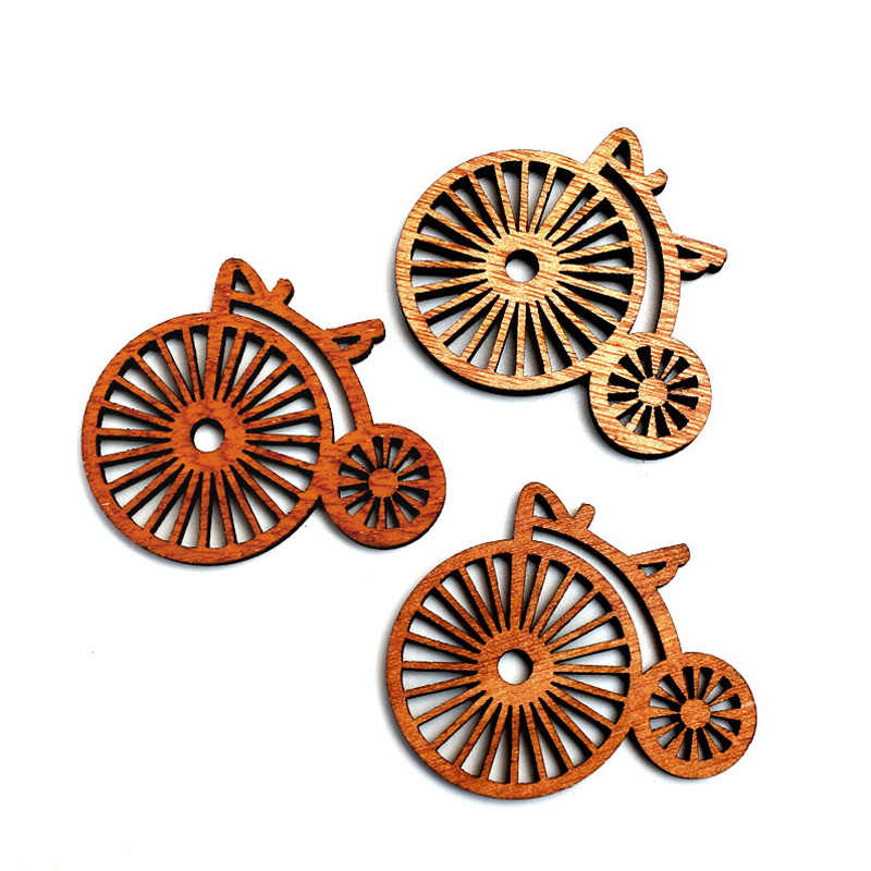 20pcs Natural Wheel Wood Craft Embellishments MDF Wooden Cutout Flatback  Scrapbooking for Cardmaking DIY Wedding Decoration 93b2bef04e3f