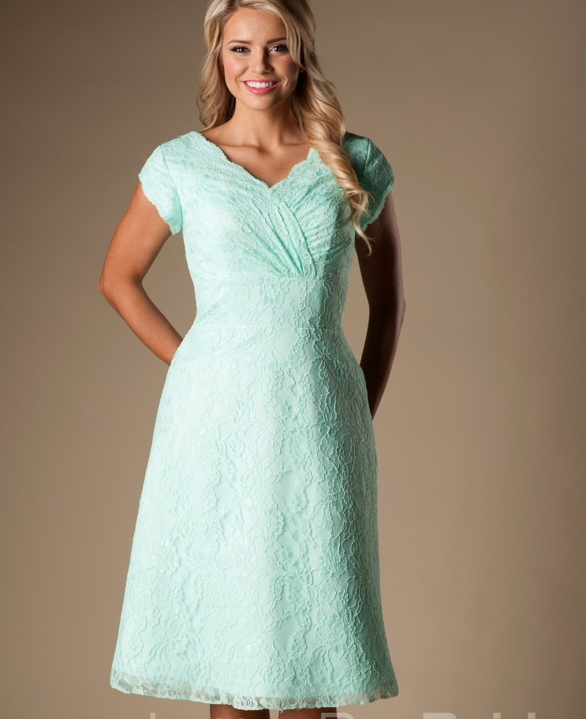 Online get cheap bridesmaid dresses mint vintage aliexpress mint lace short modest bridesmaid dresses with cap sleeves v neck a line knee length vintage informal maid of honor gowns custom ombrellifo Gallery