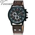 Vansvar Brand Fashion Men Wrist Watches Casual Leather Military Watch Analog Quartz Watch Relogio Masculino Drop Shipping 2006