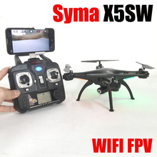 FPV WiFi Support IOS Android SYMA X5SW RC Drone With HD Camera 2.4G 6 Axis RC Helicopter Quadcopter Real Time Video