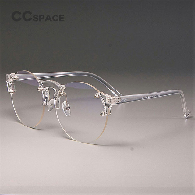 1382df507579 CCSPACE Transparent Glasses Frames Men Women Round Lens Cat Eye Brand Designer  Optical Fashion Eyewear Computer Glasses 45221