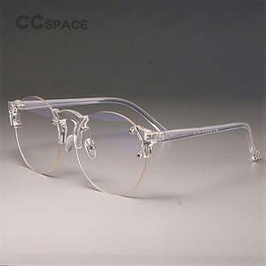 630a7fe53c5dc CCSPACE Transparent Glasses Frames Men Women Round Optical