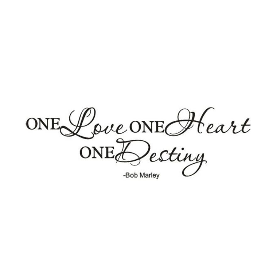 One Love Quote Removível Do Decalque Da Parede Da Sala Sticker Art Vinyl  Decoração De Casa Papel De Parede Para Sala De Estar Parede Foto Mural  Papel Parede ...