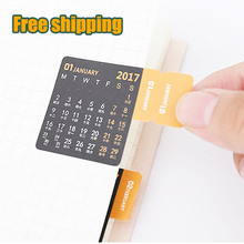 Quality Paper material bookmark monthly yearly planner index for notebook and dairy calendar leather sticker scrapbook sticker