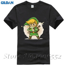 2017 Latest Men Cartoon Game T-Shirt The Legend Of Zelda Blowing Bits Printed T Shirt PokeOcarine Design Clothes Funny Tops Tees
