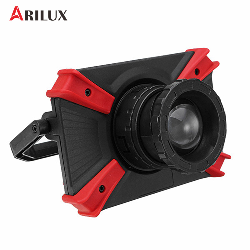 ARILUX 10W Portable USB Rechargeable Magnetic 1000LM COB LED Camping Light Focusing Lens Outdoor Work Lamp