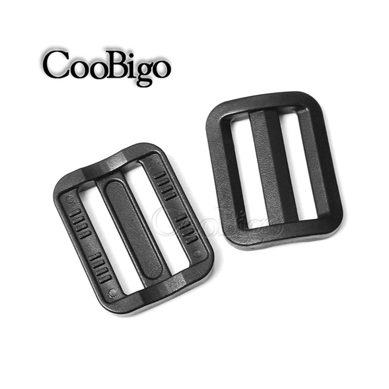 "10 Stks 1 ""webbing Plastic Slider Tri-glide Pas Tri-ring Zwarte Curve Gesp Voor Tas Onderdelen Halsband Harnas Rugzak Band Meer Kortingen Verrassingen"