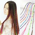 DIY Handmade Seamless Color Diamond Hair Extensions Pieces Straight Hair Braid Hair Extensions Make YOu More Beautiful