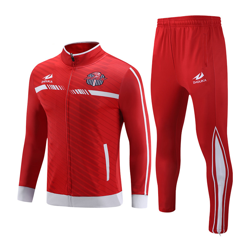 d187127e7ecaa custom tracksuits Popular design sport football team training full  tracksuits for men