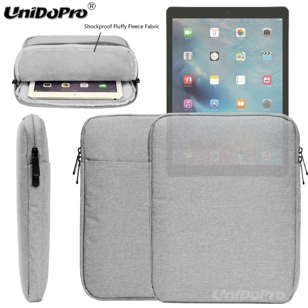 Waterproof Tablet Pouch Case for iPad Pro 10.5 9.7in 2017 /iPad 2 3 4 /iPad Air 1 2 Protective Travel Sleeve Zipper Bag Cover