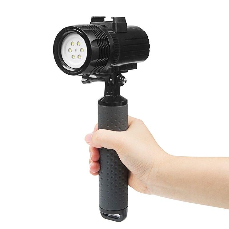 Car emergency power diving flashlight waterproof LED flashlight 60 meters rechargeable underwater handheld camera shooting