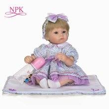 Npk nicery 18 polegada 45cm bebe boneca renascer silicone macio menino menina brinquedo do bebê renascer boneca presente para crianças plamates