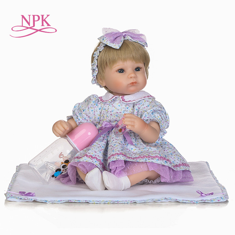 NPK Nicery 18inch 45cm Bebe Doll Reborn Soft Silicone Boy Girl Toy Reborn Baby Doll Gift for Children plamates nicery 18inch 45cm reborn baby doll magnetic mouth soft silicone lifelike girl toy gift for children christmas pink hat close