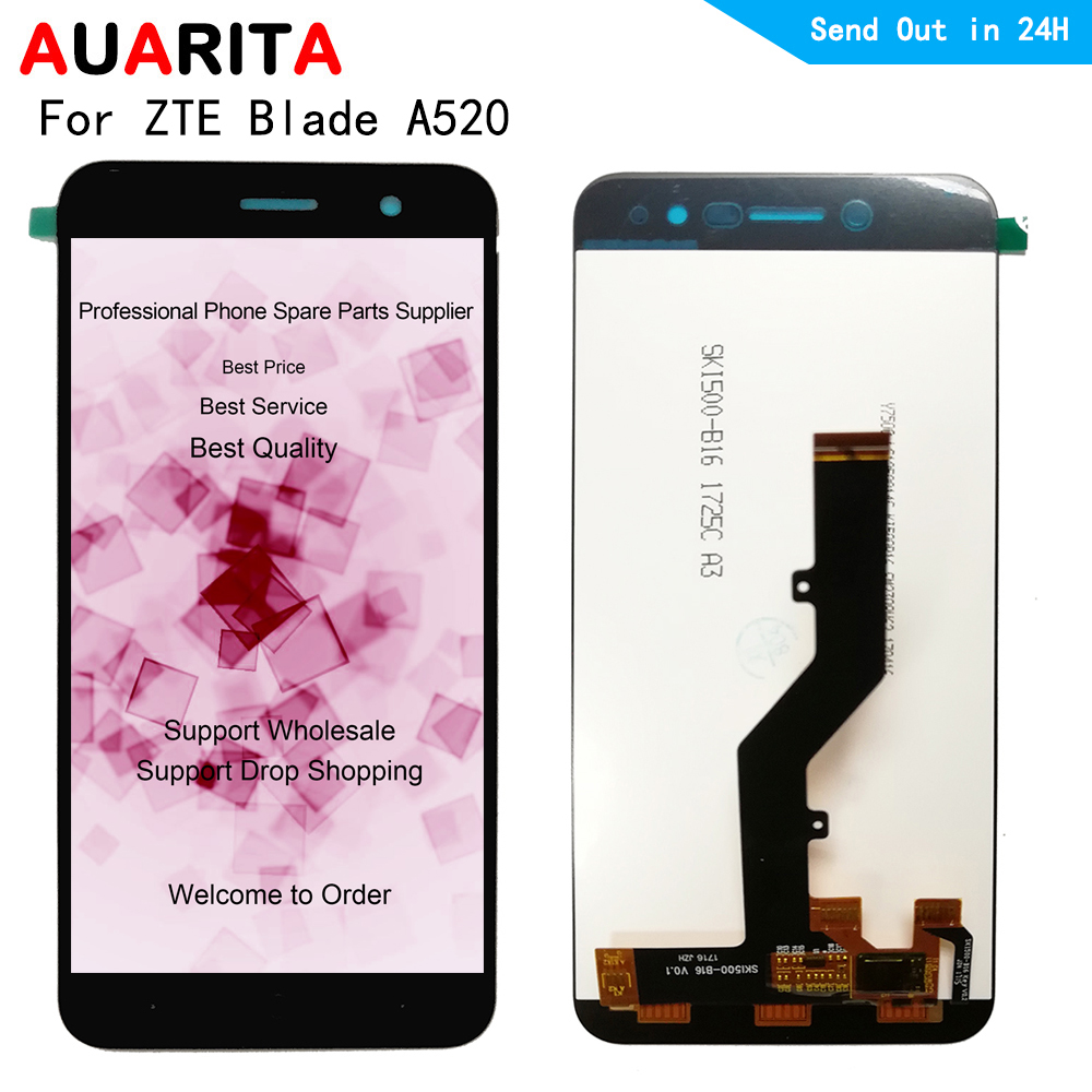 LCD For <font><b>ZTE</b></font> <font><b>Blade</b></font> <font><b>A520</b></font> lcd display <font><b>screen</b></font> touch panel front outer glass <font><b>screen</b></font> digitizer assembly 5.0