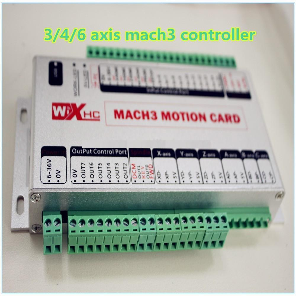 Online Shop Xhc 6axis 5axis Cnc Control Card Kit Mach3 Usb 6 Wire Stepper Motor Controller Aliexpress Mobile