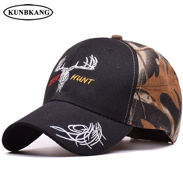 f9062fd8bbe93 New Men Camo Baseball Cap Deer Embroidery Snapback Hat Bone Hunting Casquette  Women Casual Camouflage Army Green Sun Cap Gorras
