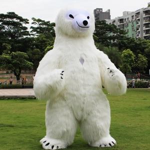 Image 5 - פנדה מתנפח תלבושות דוב קוטב קמע מתנפח תלבושות ליל כל הקדושים תלבושות עבור 3M גבוה מתאים עבור 1.7m כדי 1.95m למבוגרים